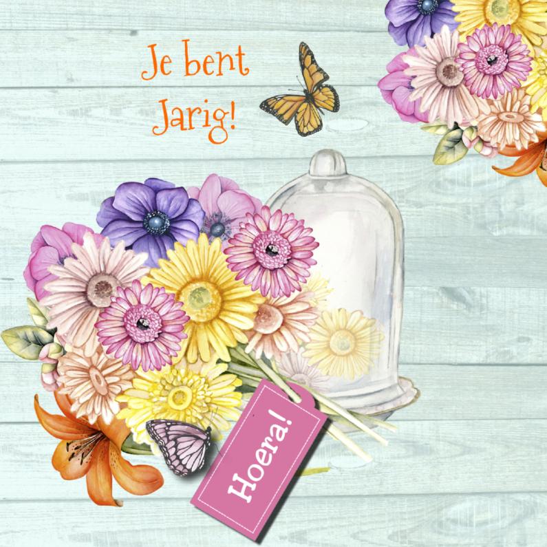 Jarig stolpje bloemen 1