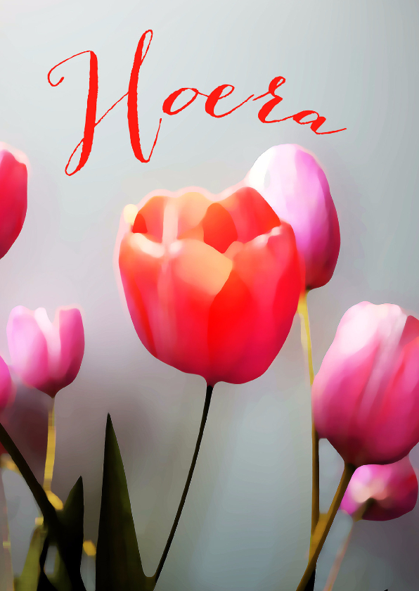 Jarig tulpen schilderstijl 1