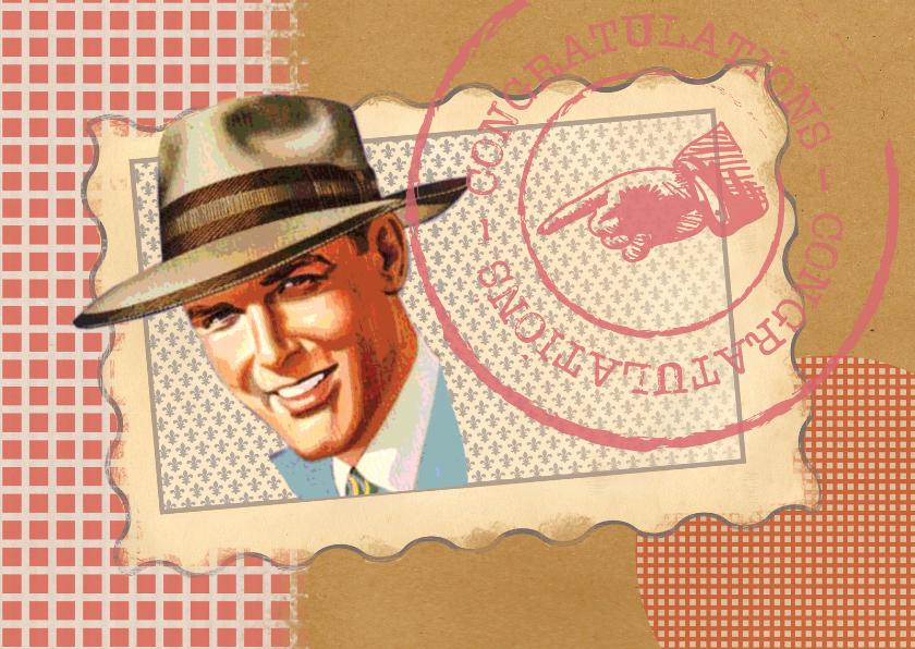 Jarig - Vintage Man Rood - MW 1