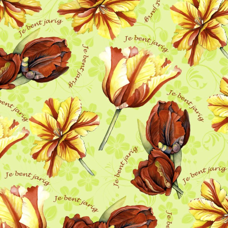 Je bent jarig met mooie tulpen 1