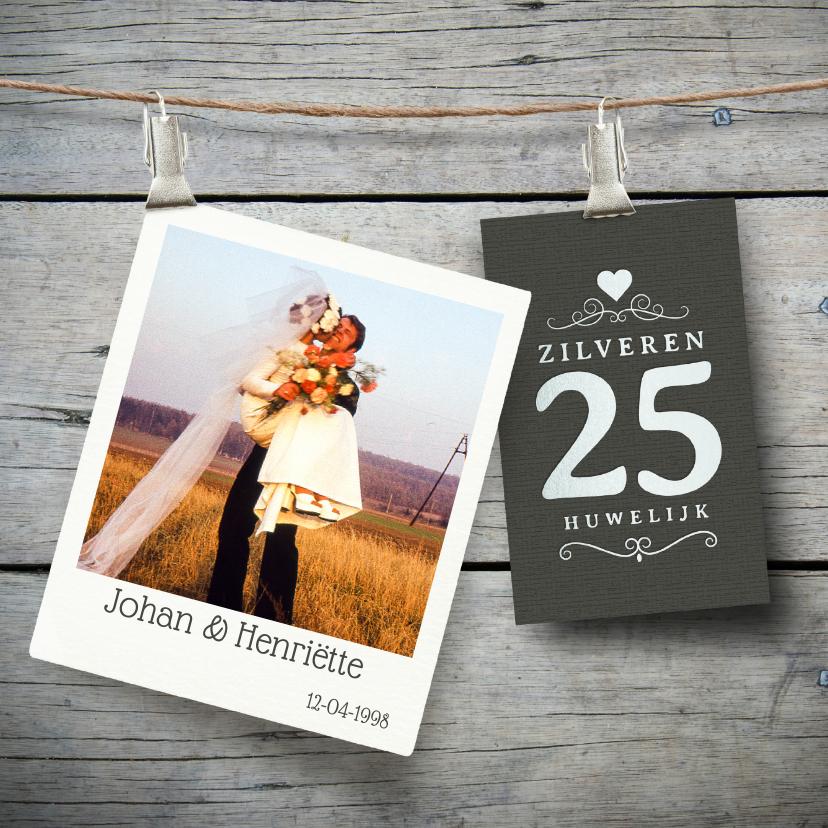 Jubileum 25 jaar huwelijk hout