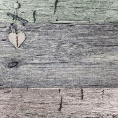 Jubileum 3 kleuren hout met hart 2