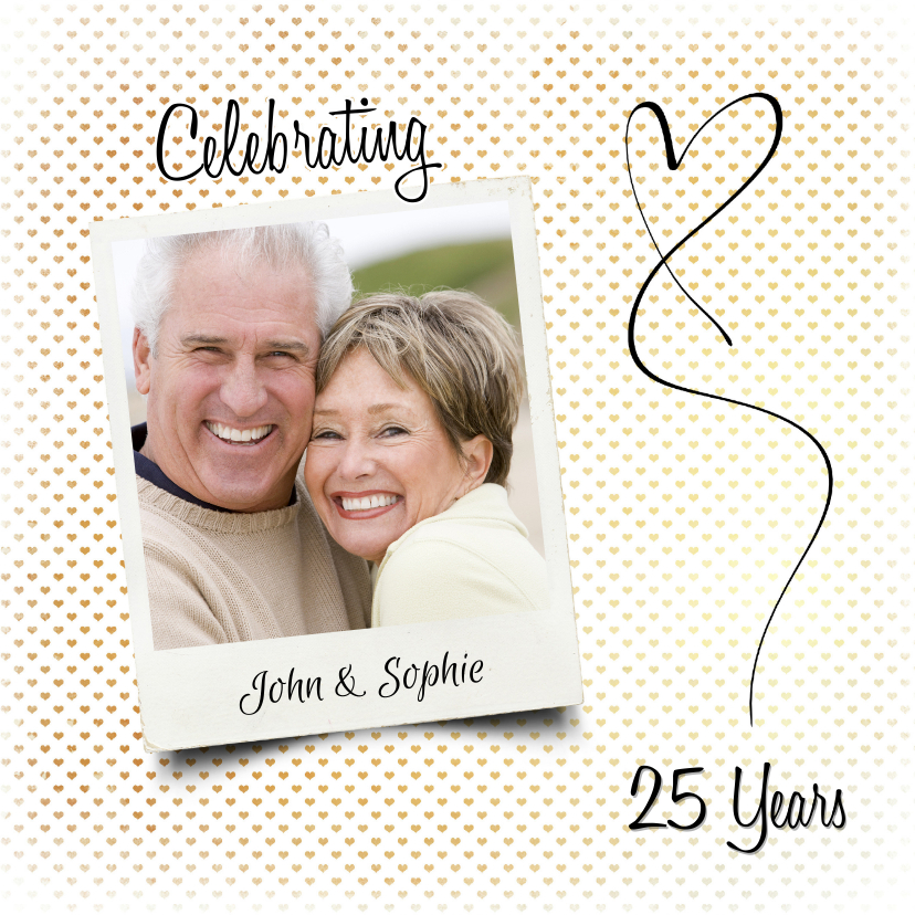 Jubileum huwelijk hartjes - SG 1