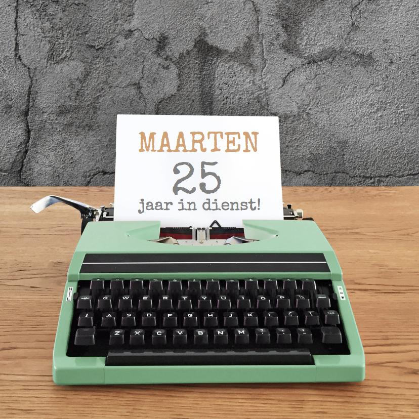 Jubileum - Typemachine groen 1