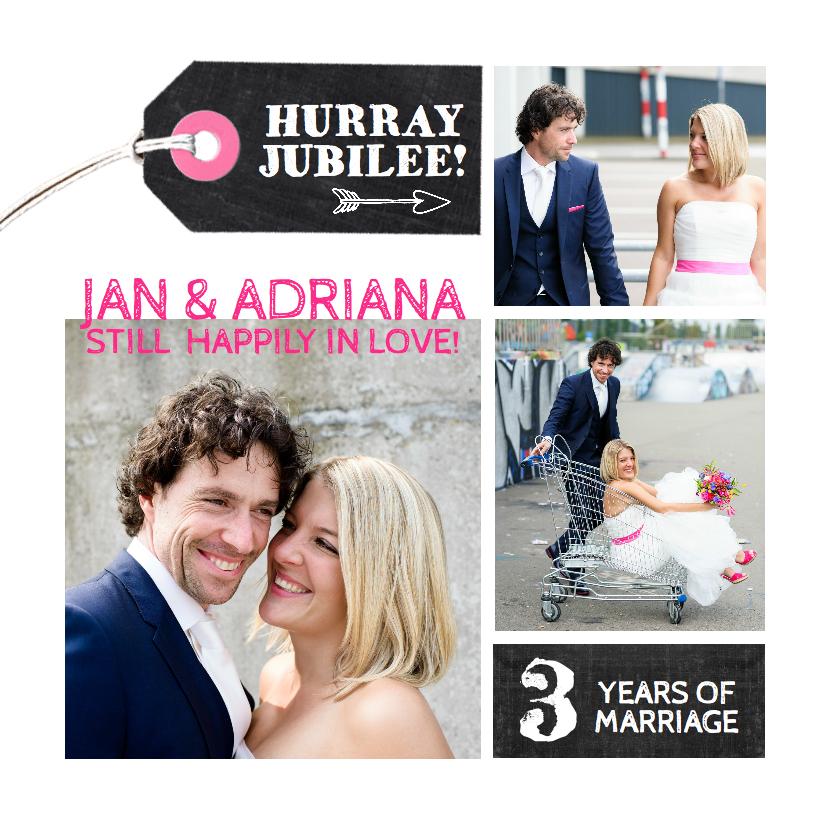 Jubileumkaart huwelijk collage 1