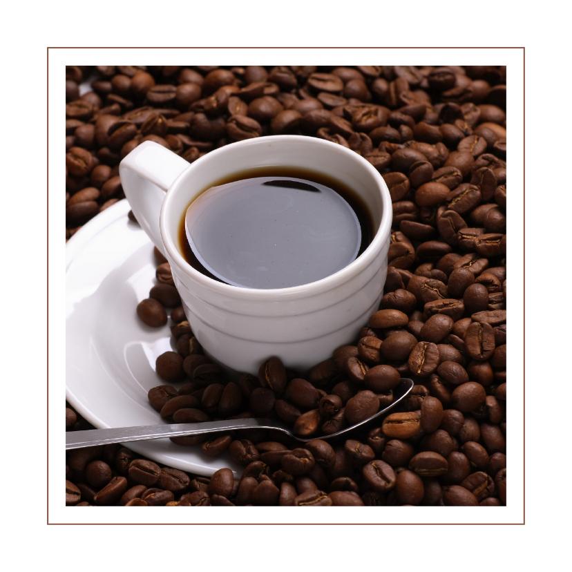 Kaart koffie en koffiebonen 1