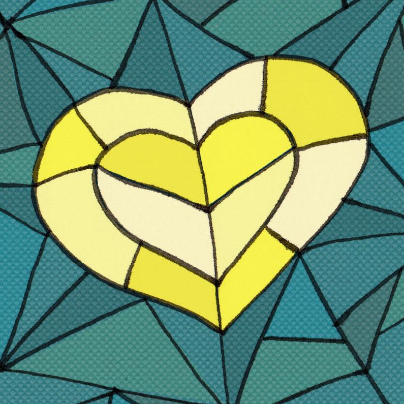 Kaart met hart van goud 1