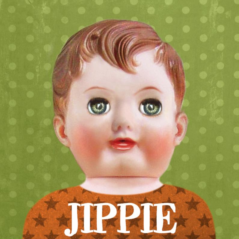 Kaart met retro pop jongen 1
