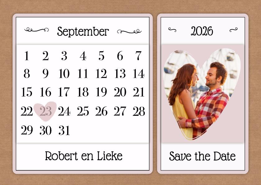Kalender Save the Date - BK 1