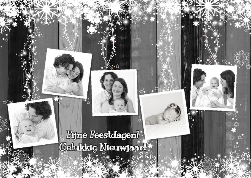 Kerst 5 fotos hout grijs L-HB 1
