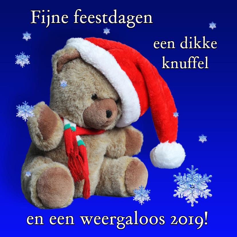Kerst, beer met kerstmuts - AZ  1