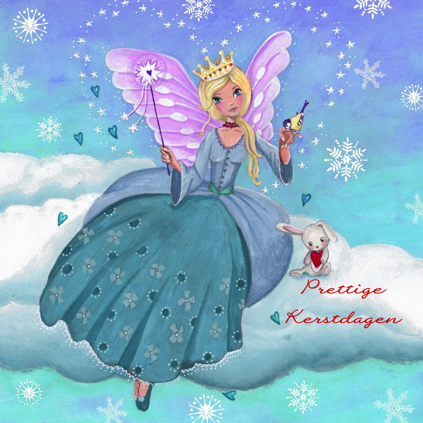 Kerst ENGEL Sneeuw Liefde Illustratie 1
