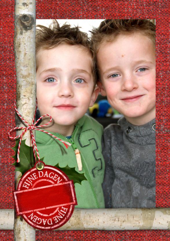 kerst foto label rood YVON 1