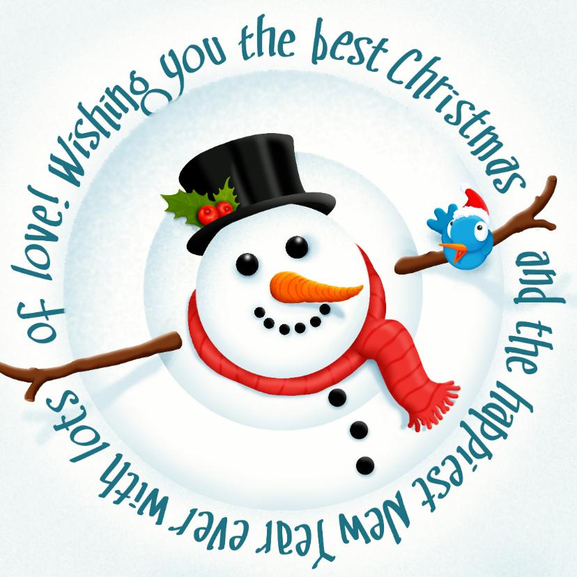 Kerst Happy Snowman 1