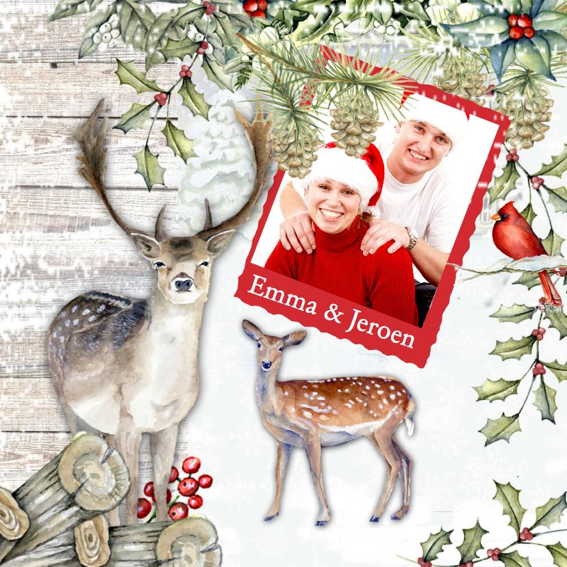 Kerst hert sneeuw 1