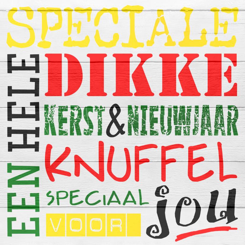 Kerst knuffel - woordenkaart 1