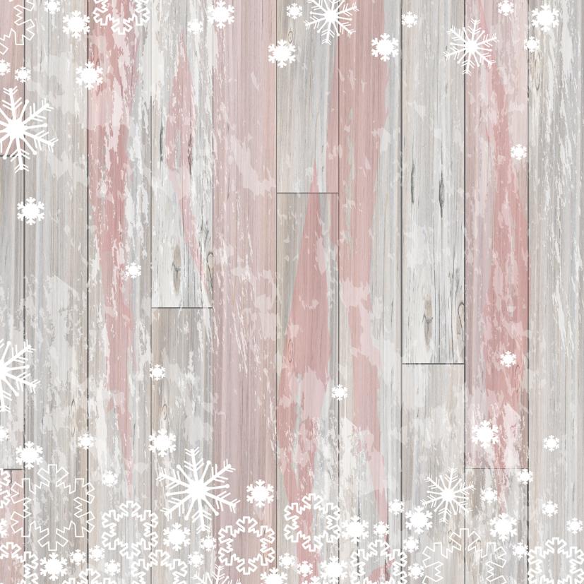 Kerst labels sneeuw V-HB 2