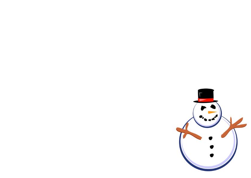 Kerst lijst met Sneeuwpoppen OT 3