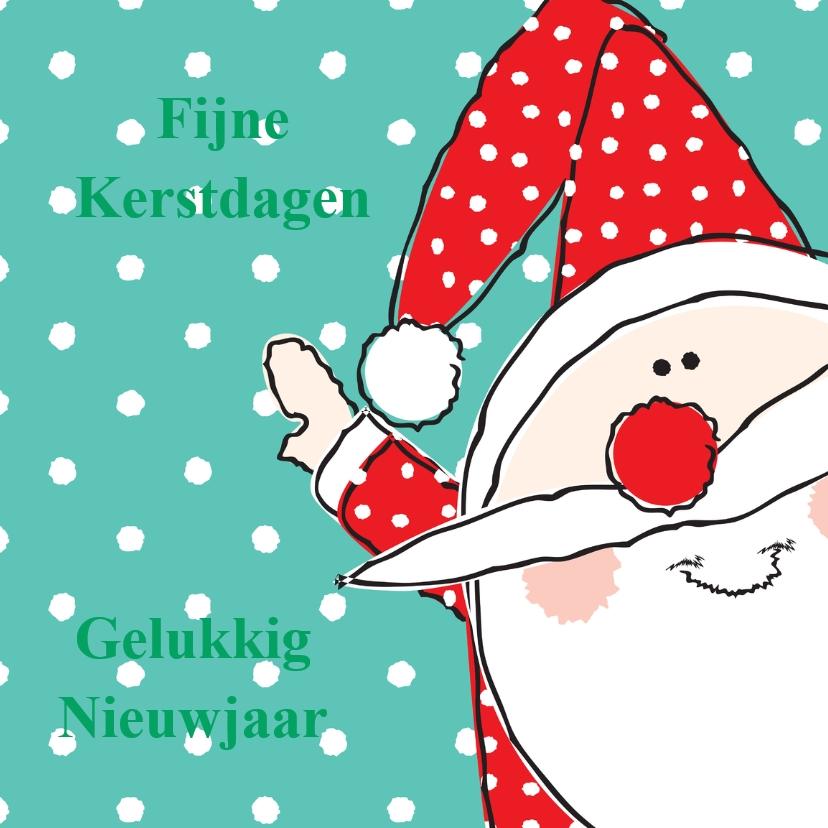kerst-nieuwjaarskaart kerstman 1