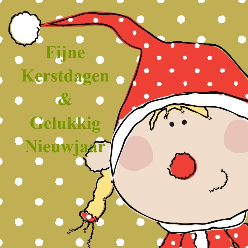 kerst-nieuwjaarskaart kerstvrouw 1