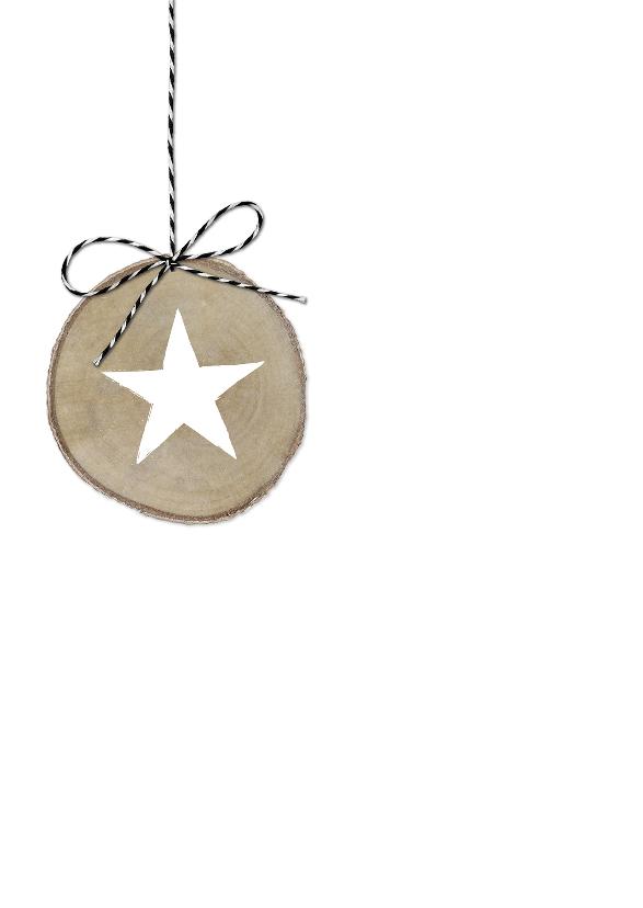 Kerst Stippen Houtschijven ST 2