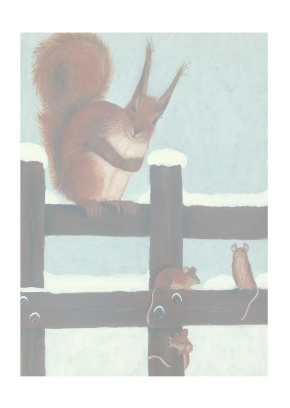 Kerst tafereel met eekhoorn 2