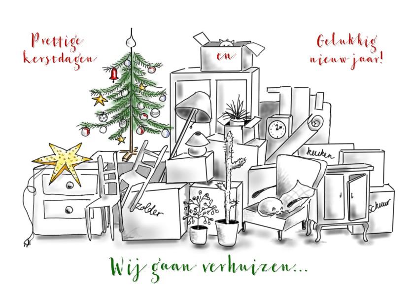 Kerst verhuiskaart met katten 1