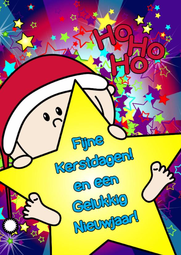 Kerst vrolijk baby ster S-HB 1