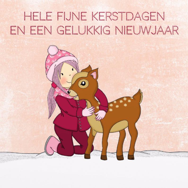 Kerst Wintermeisje Bambi - TbJ 1