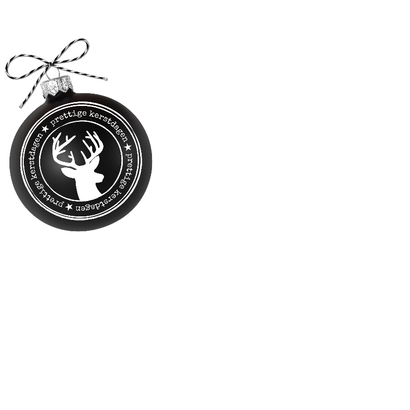 Kerst Zink Zwarte Kerstbal VK 2