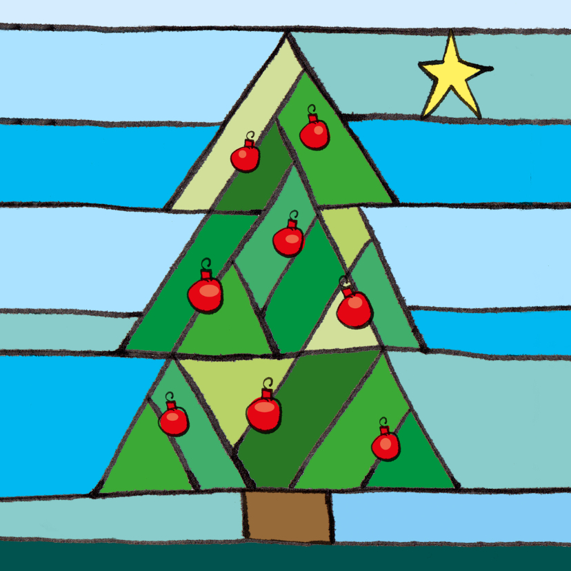 Kerstboom glasinlood 1