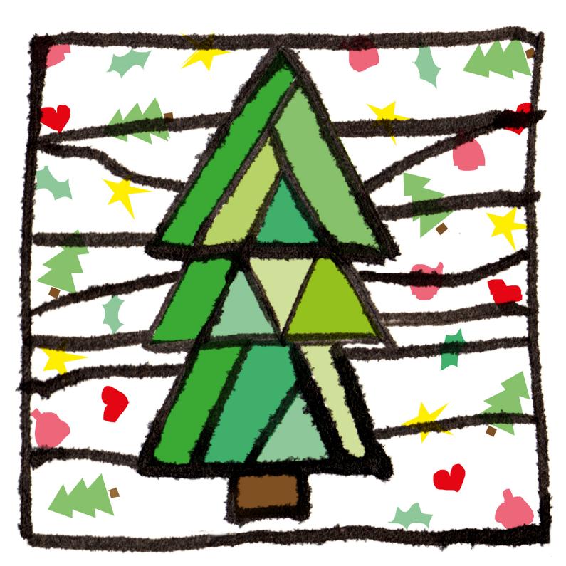 Kerstboom illustratie 1