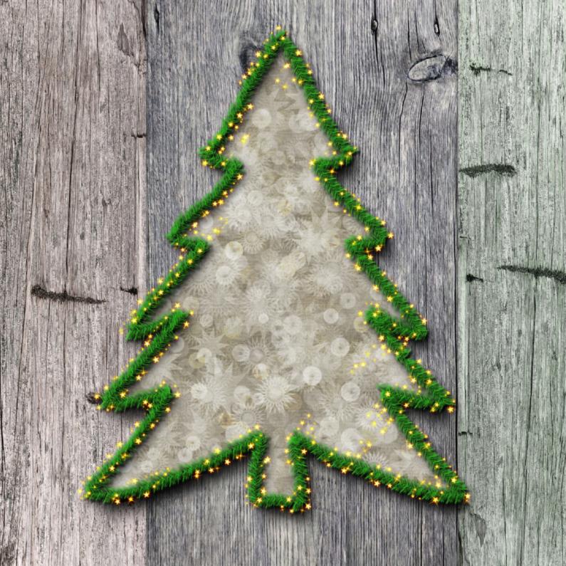 Kerstboom met hout 1