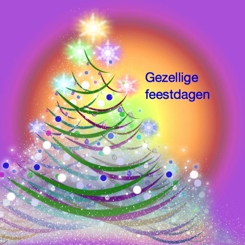 Kerstboom met kleur 1