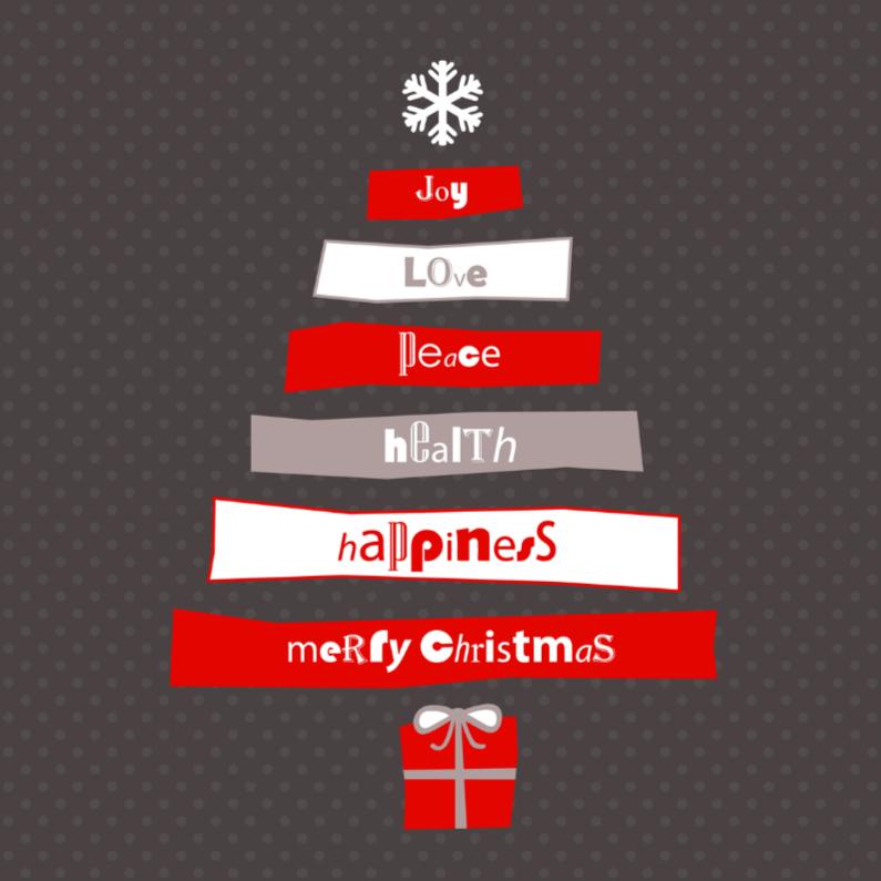 Kerstboom met tekst 1