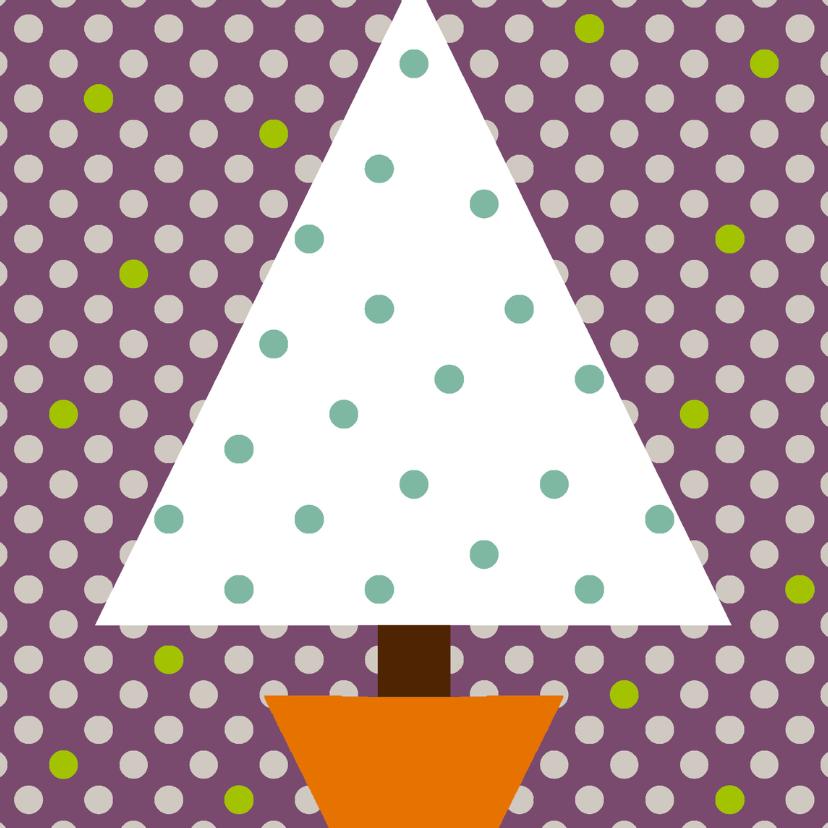Kerstboom Polkadot Paars 1