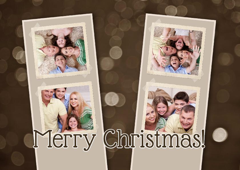 Kerstcollage 4 foto's bruin - BK 1