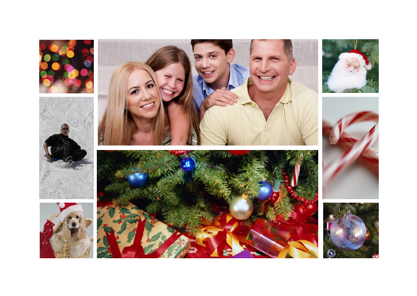 Kerstcollage kaart - Remco 1