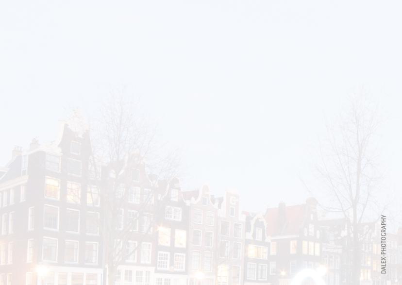 Kerstkaart- Amsterdamse gracht 2