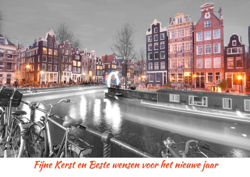 Kerstkaart- Amsterdamse gracht 1