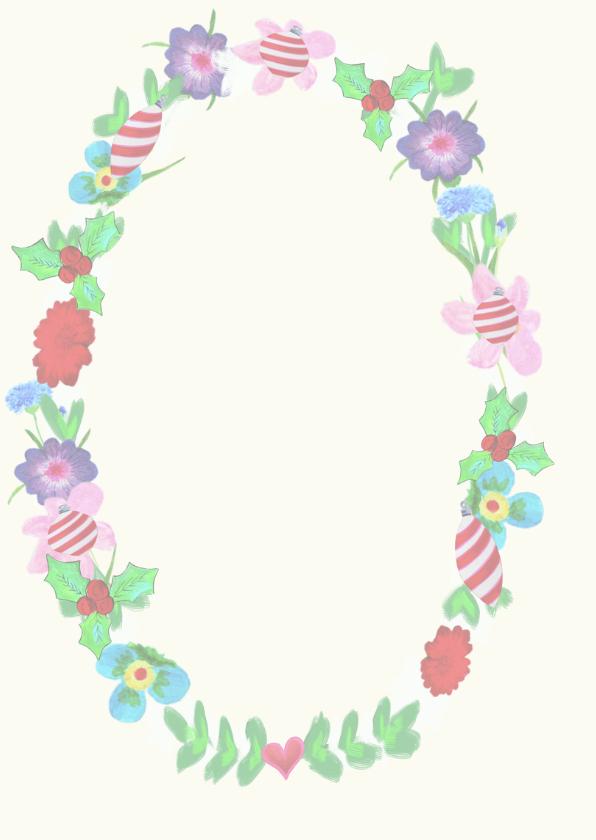 Kerstkaart bloemen 2