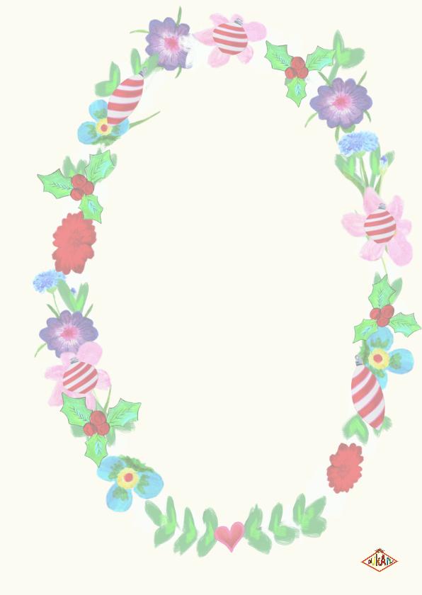 Kerstkaart bloemen 3