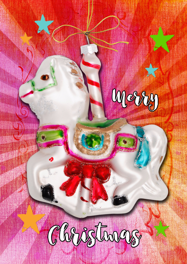 Kerstkaart Circus Paard - SG 1