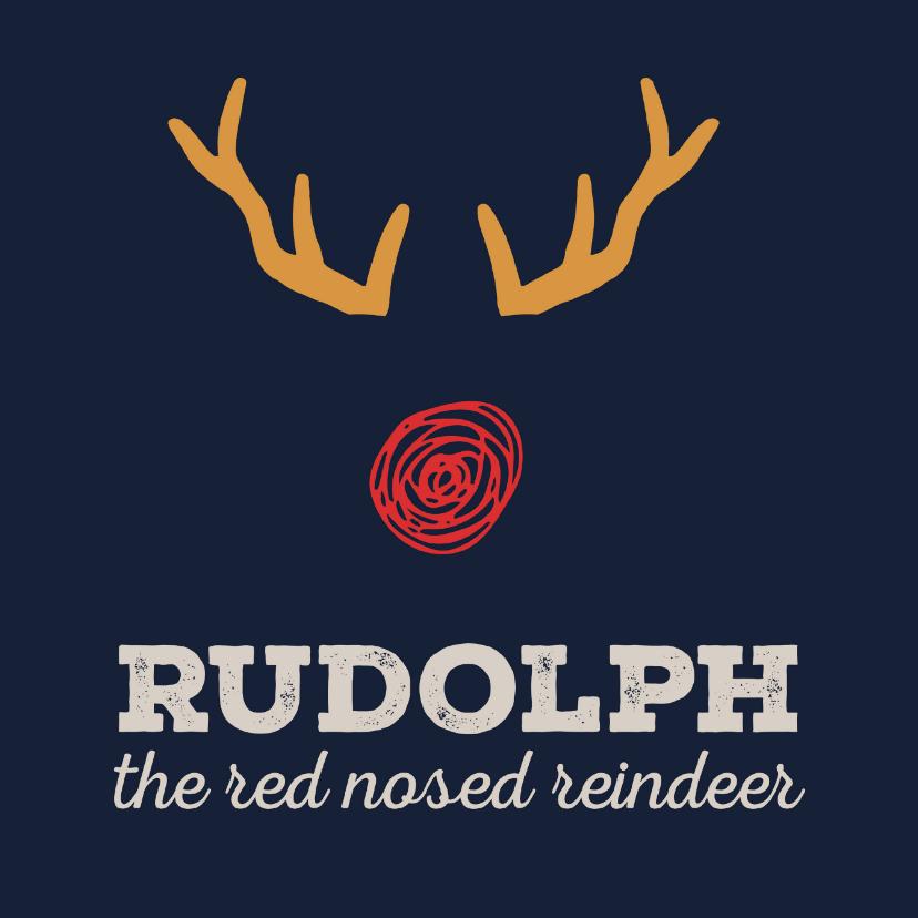 Kerstkaart Cliniclowns Rudolph 1