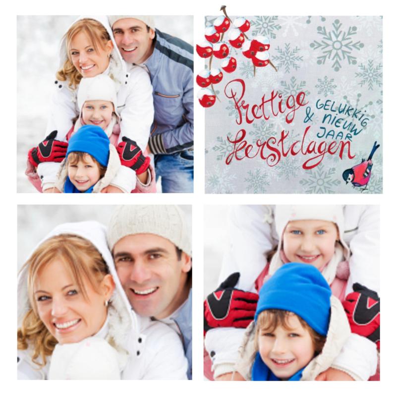 Kerstkaart COLLAGE Kerstmis 1