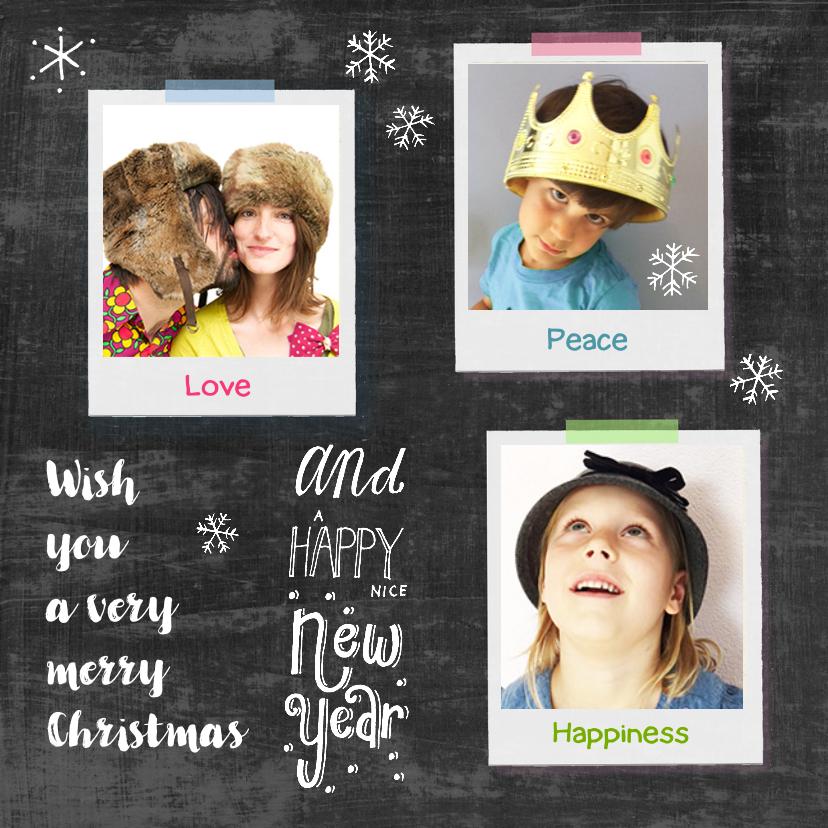 Kerstkaart collage polaroids 1
