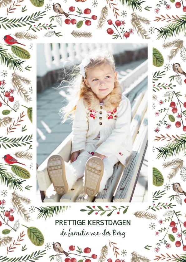 Kerstkaart Dennetakjes Besjes  1