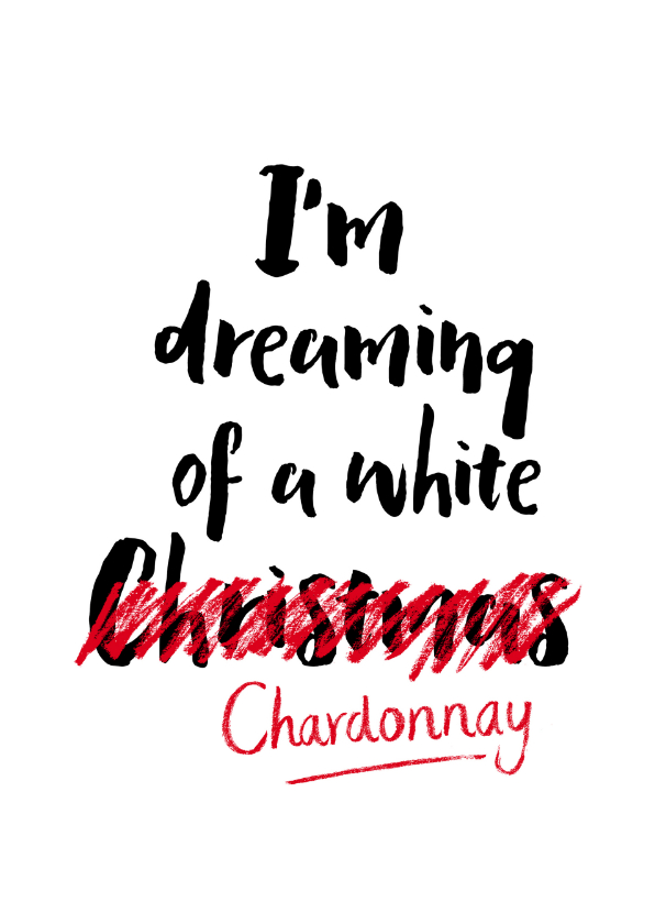 Kerstkaart Dreaming of a white.. 1