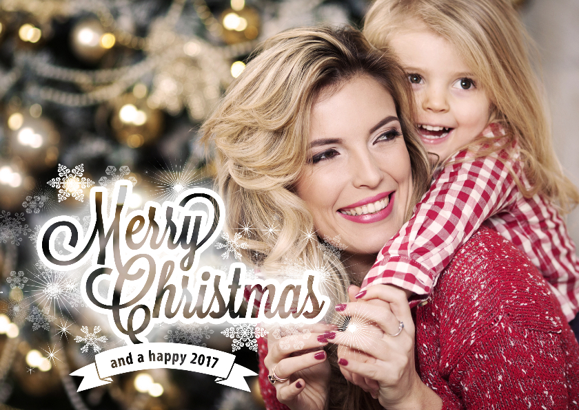 Kerstkaart foto met boodschap 1
