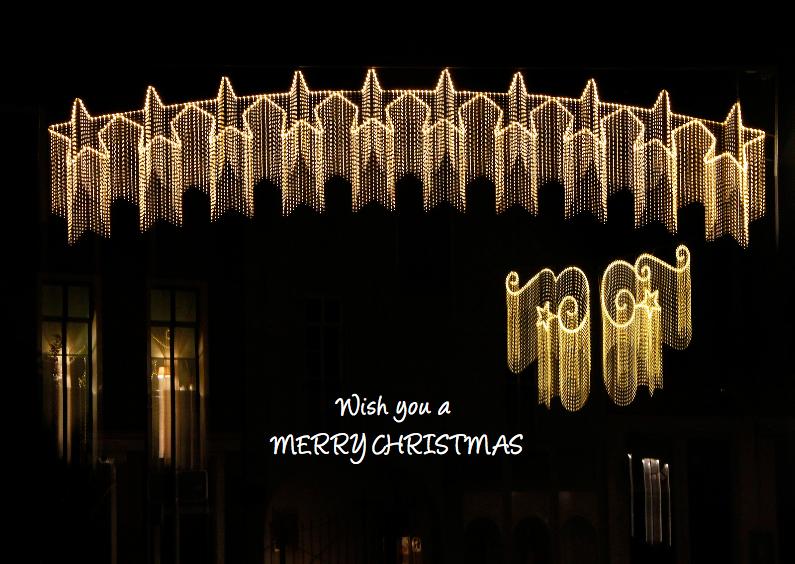 Kerstkaart gezellige kerstverlichting 1
